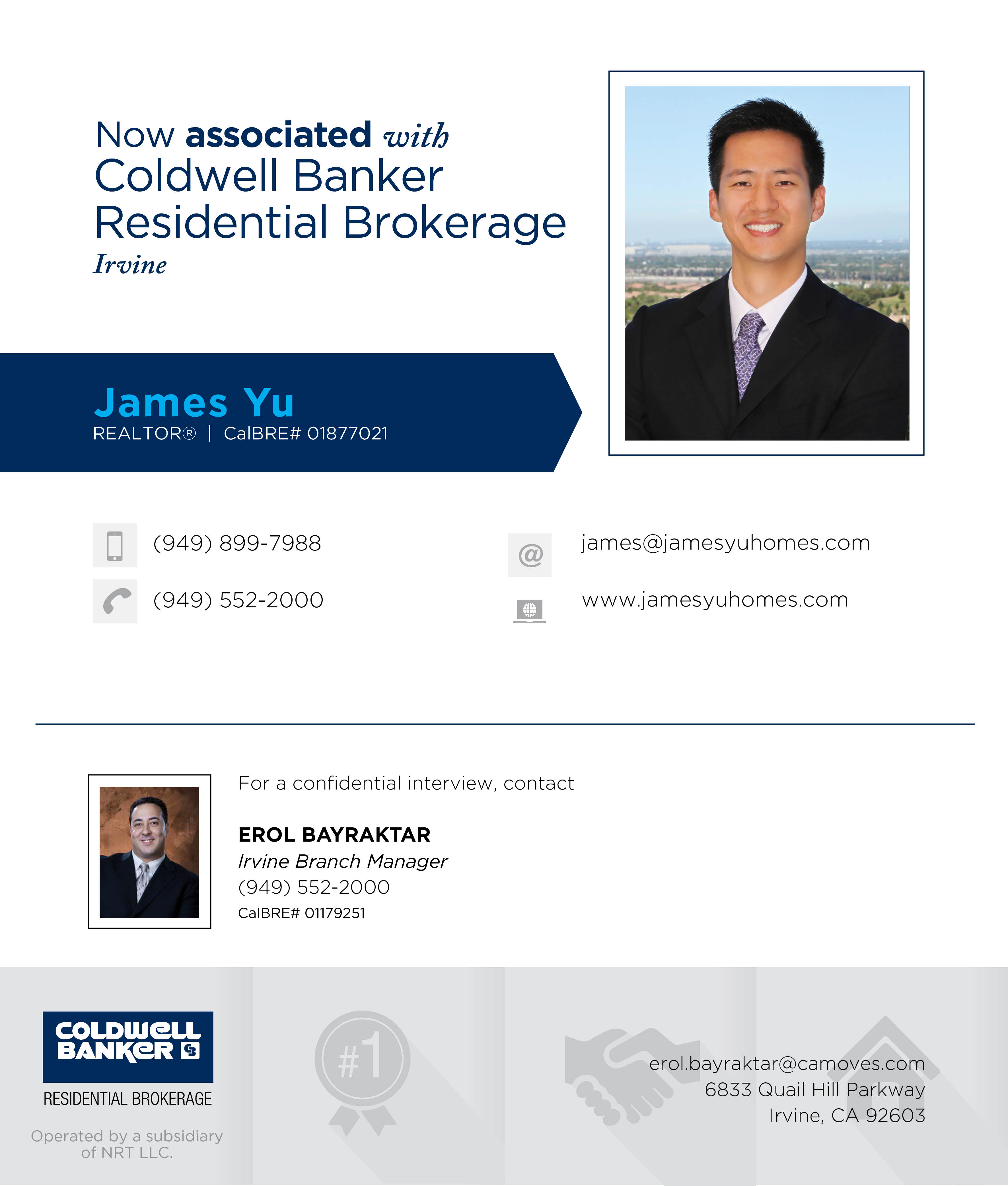 coldwell banker irvine is proud to announce james yu has joined our
